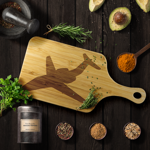 Image of Premium Bamboo Cutting Board | T-1 Silhouette