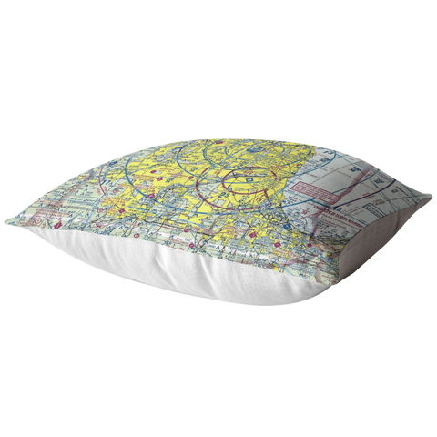 Image of Throw Pillow | Chicago, Illinois VFR Sectional