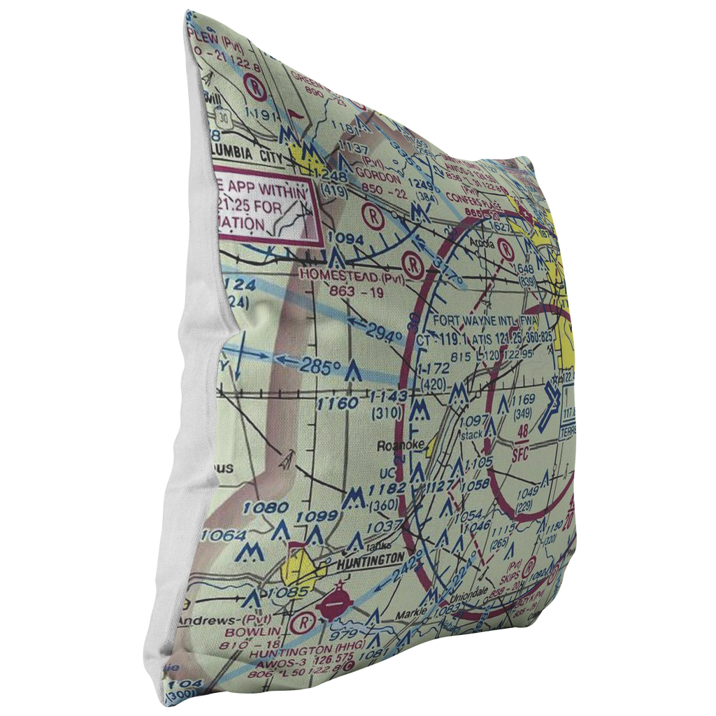 Throw Pillow |  Fort Wayne, Indiana VFR Sectional