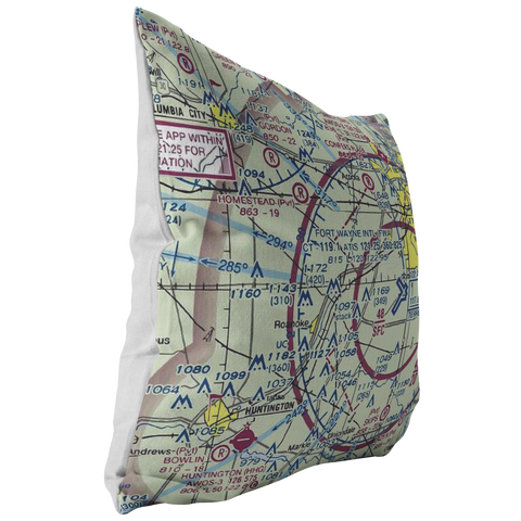 Image of Throw Pillow |  Fort Wayne, Indiana VFR Sectional