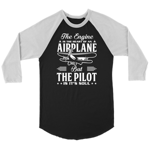 The Pilot is it's Soul - EightOut Apparel Canvas Raglan Shirt