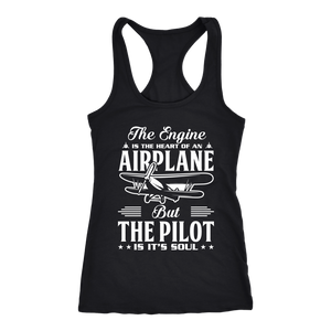 The Pilot is it's Soul - EightOut Apparel Women's Racerback Tank