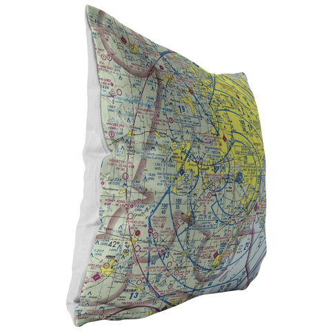Image of Throw Pillow | Detroit, Michigan VFR Sectional