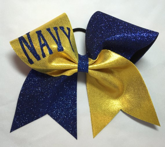 Navy Cheer bow