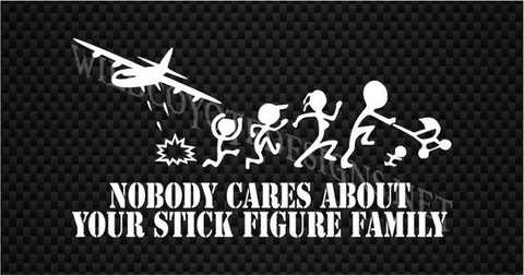"Image of Decal - AC-130 ""Nobody Cares about your Stick Figure Family"""