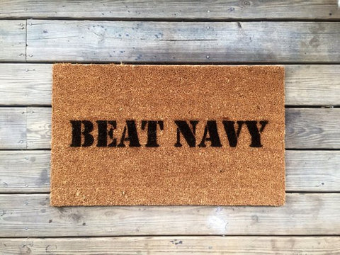 "Image of Welcome Mat | ""Beat Navy"" Game Day Welcome Mat"