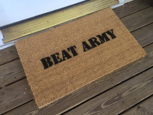 "Welcome Mat | ""Beat Army"" Game Day Welcome Mat"