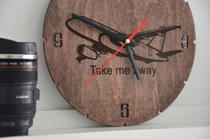 Wall Art | Wall Clock - Aviation Room Decor