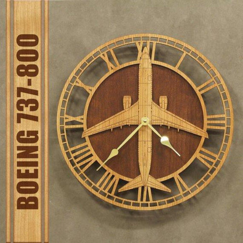 Wall Art | Wall Clock - Boeing 737-800 Wooden Wall Clock