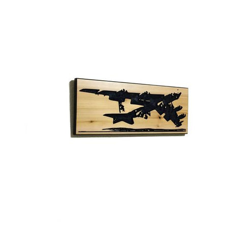 Image of Wall Art | Wood - B-52 Carved Wood Art