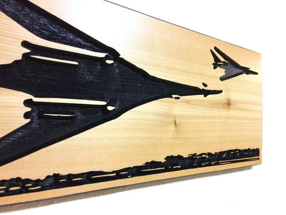 Wall Art | Wood - B-1B Carved Wood Art