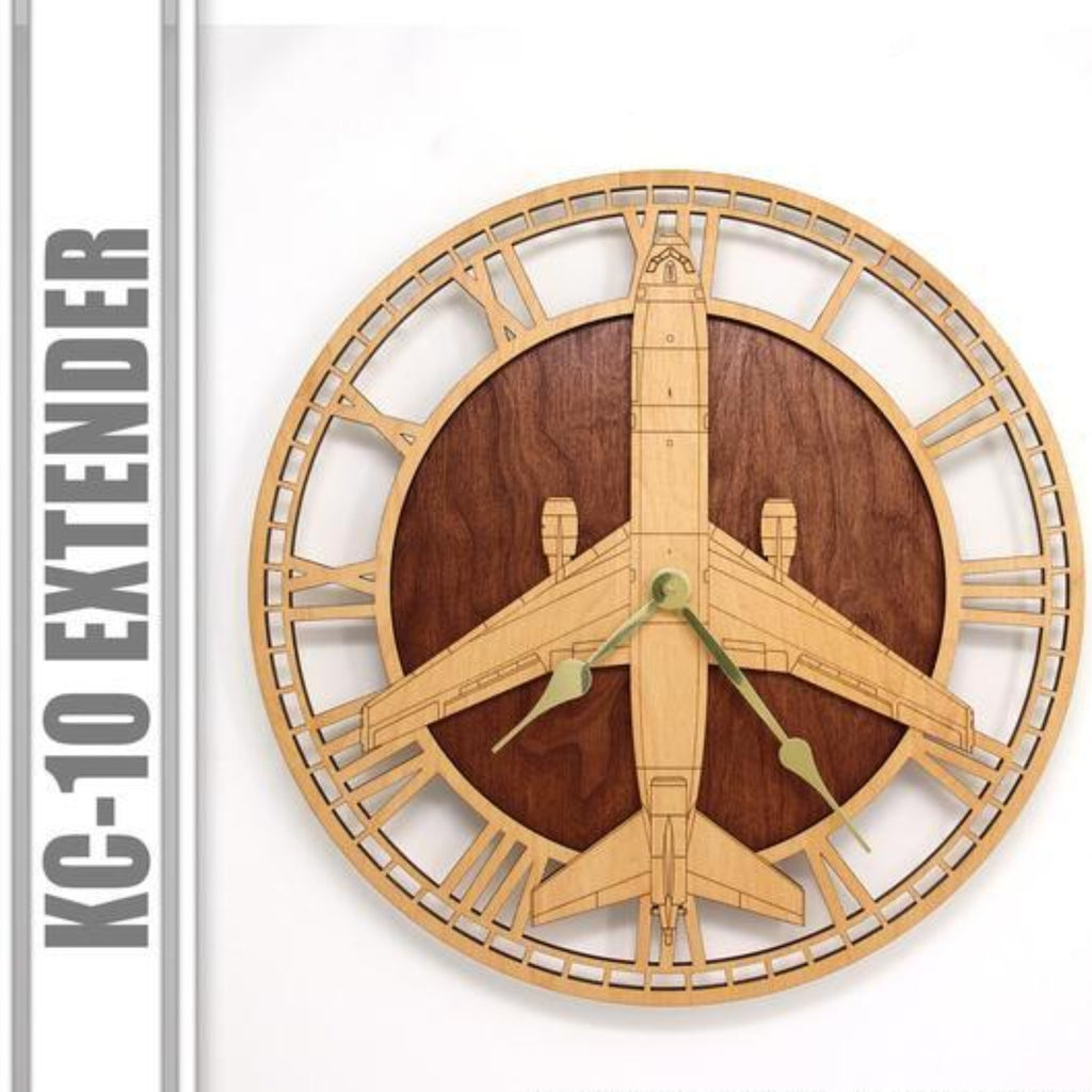 Wall Art | Wall Clock - KC-10 Extender Wooden Wall Clock
