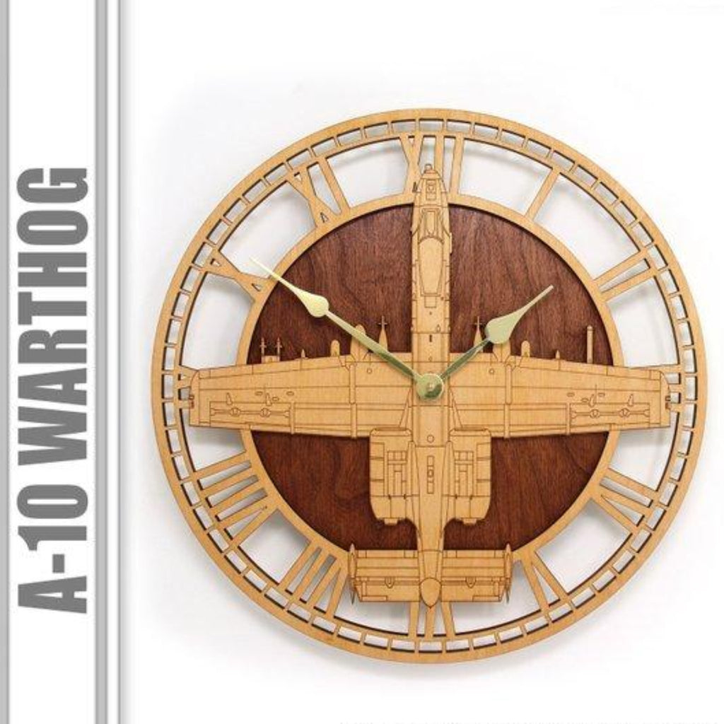 Wall Art | Wall Clock - A-10 Warthog Wooden Wall Clock