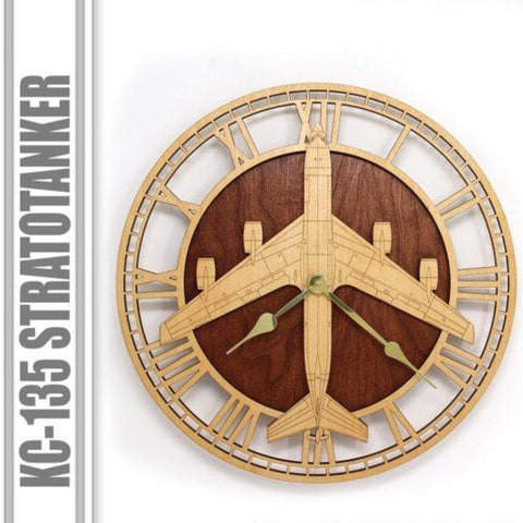 Wall Art | Wall Clock - KC-135 Stratotanker Wooden Wall Clock