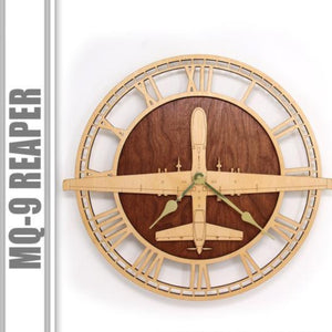 Wall Art | Wall Clock - MQ-9 Reaper UAV Drone Wood Clock