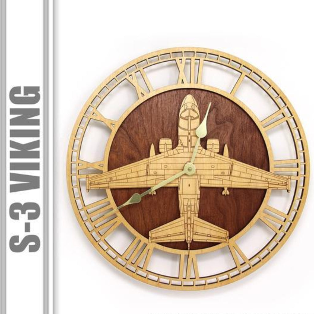 Wall Art | Wall Clock - S-3 Viking Wooden Wall Clock