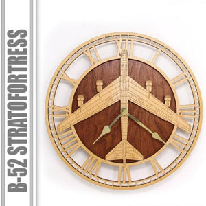 Wall Art | Wall Clock -B-52 StratoFortress Wooden Wall Clock