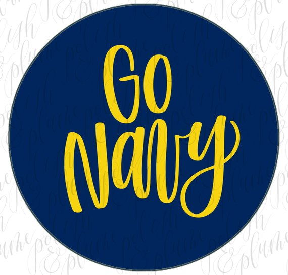 "2 Designs | Go Navy Beat Army 3"" Game Day Button Pins"