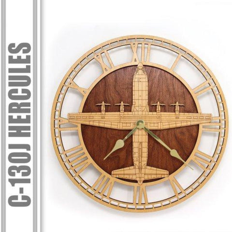 Wall Art | Wall Clock - C-130J Super Herc Wooden Wall Clock