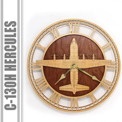 Wall Art | Wall Clock - C-130 H Hercules Wooden Wall Clock