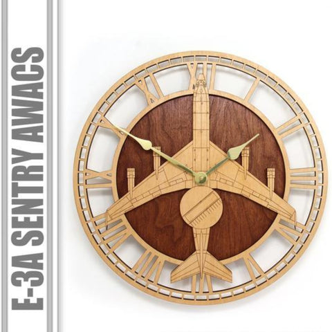 Wall Art | Wall Clock - AWACS E-3 Sentry Wooden Wall Clock