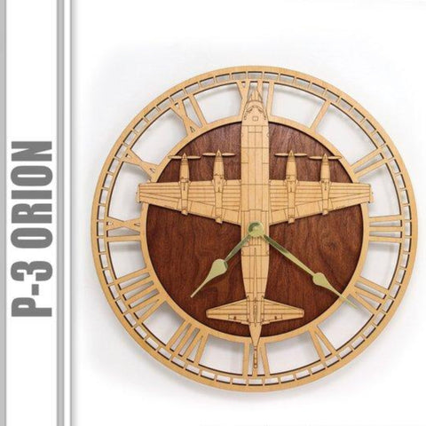 Wall Art | Wall Clock - Lockheed P-3 Orion Wooden Wall Clock