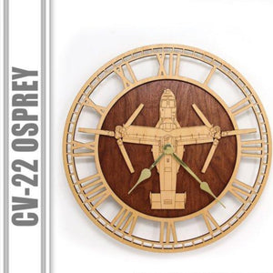 Wall Art | Wall Clock - CV-22 Osprey Wooden Wall Clock
