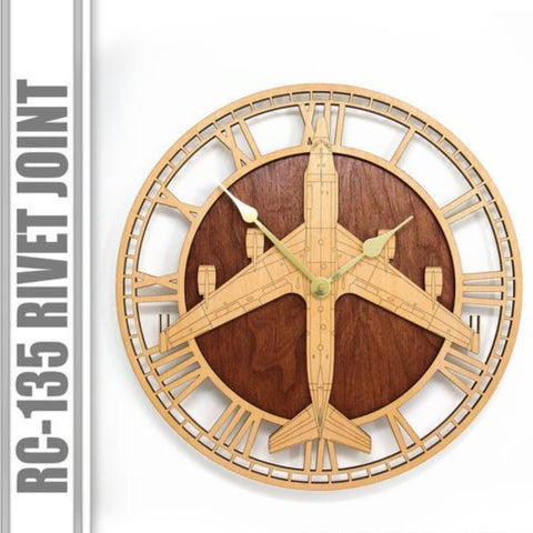Wall Art | Wall Clock - RC-135 Rivet Joint Wooden Wall Clock