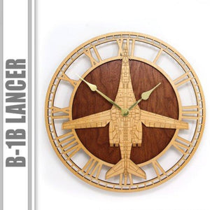 Wall Art | Wall Clock - B-1B Lancer Wooden Wall Clock