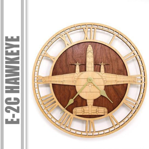 Wall Art | Wall Clock - E-2C Hawkeye Wooden Wall Clock