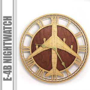 Wall Art | Wall Cock - E-4B Nightwatch Wooden Wall Clock