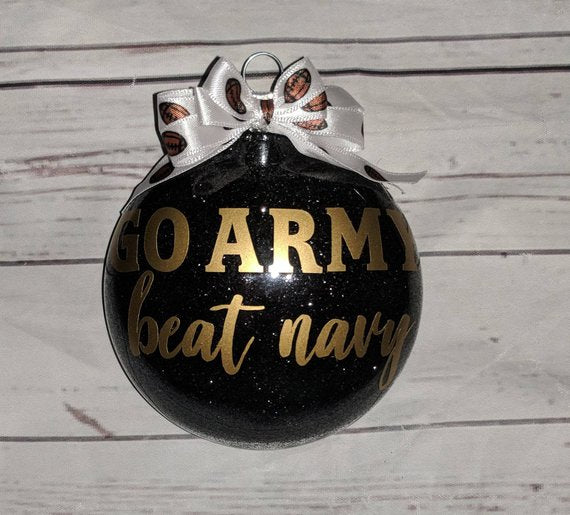 "Christmas Ornament | ""Go Army Beat Navy"" Christmas Ornament"