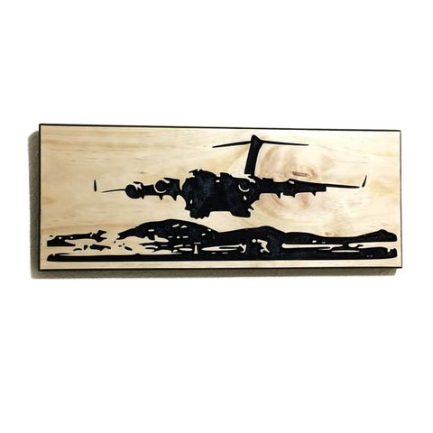 Image of Wall Art | Wood - C-17  Carved Wood Art