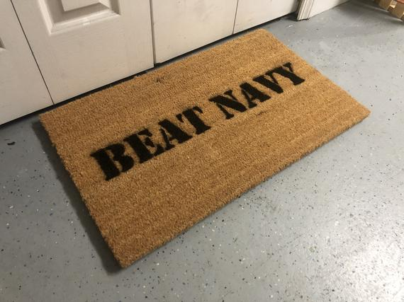 "Welcome Mat | ""Beat Navy"" Game Day Welcome Mat"