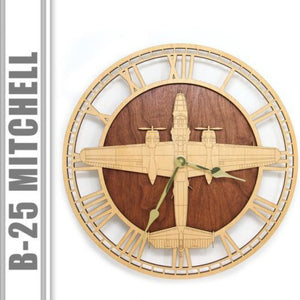 Wall Art | Wall Clock - B-25 Mitchell Wall Clock