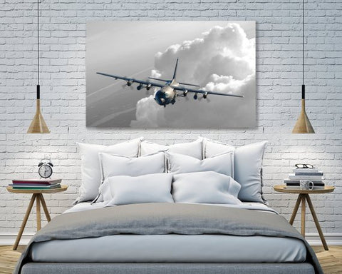 Image of Wall Art | Canvas - AC-130U Canvas Wall Art - Black & White