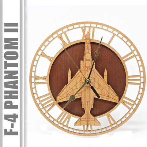 Wall Art | Wall Clock - F-4 Phantom II Wooden Wall Clock
