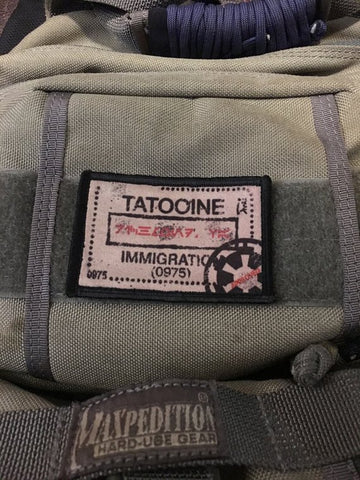 "Image of Morale Patch - ""Tatooine Passport Stamp"" 2x3""  Patch"