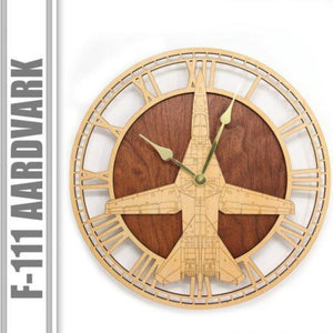 Wall Art | Wall Clock - F-111 Aardvark Wooden Wall Clock