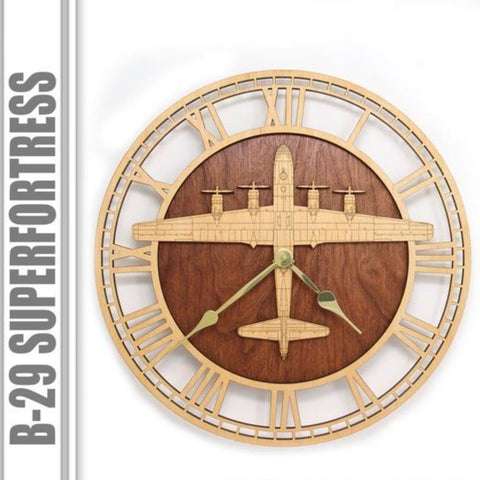Wall Art | Wall Clock - B-29 Superfortress Wood Wall Clock WWII, Enola Gay