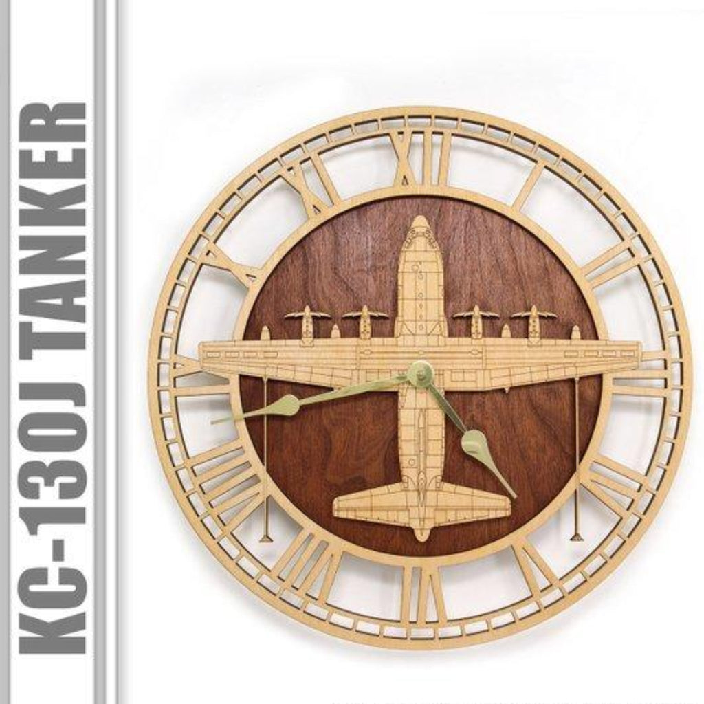 Wall Art | Wall Clock - KC-130J Wooden Wall Clock