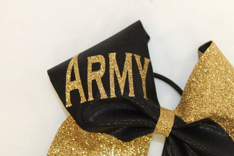 Image of Army Cheer bow