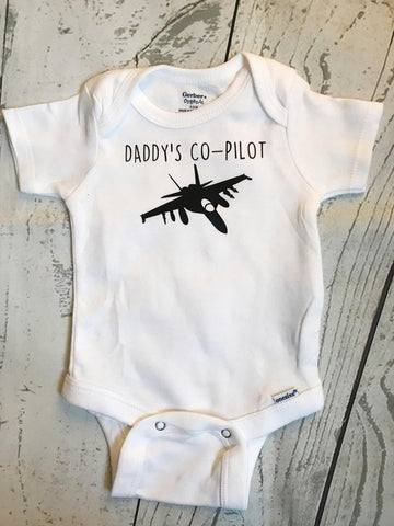 Daddy's Co-Pilot - F-18 Onesie
