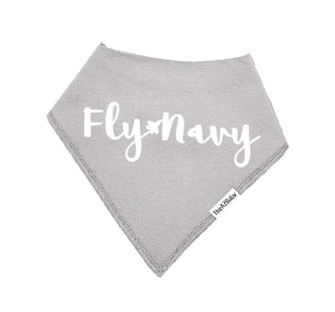 "Image of Baby Bib | ""Fly Navy"" Naval Aviation Bib"