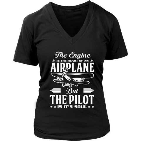 Image of The Pilot is it's Soul - EightOut Apparel Women's District Short Sleeve Shirt