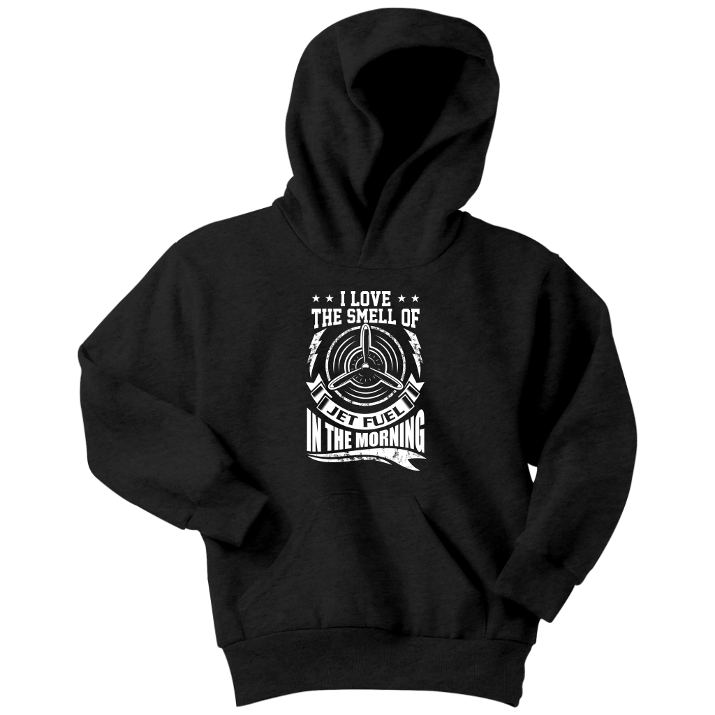 Jet Fuel In The Morning - EightOut Apparel Youth Hoodie