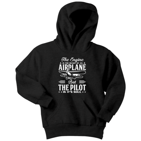 Image of The Pilot is it's Soul - EightOut Apparel Youth Hoodie
