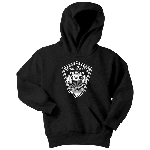 Born to Fly_Forced to Work - EightOut Apparel Youth Hoodie