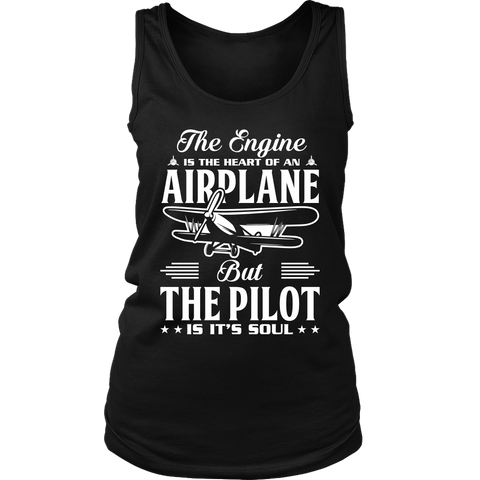 Image of The Pilot is it's Soul - EightOut Apparel Women's District Tank