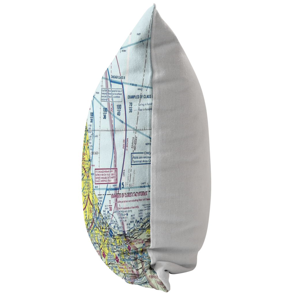 Throw Pillow | Chicago, Illinois VFR Sectional